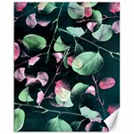 Modern Green And Pink Leaves Canvas 16  x 20   20 x16 Canvas - 1