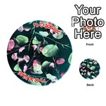 Modern Green And Pink Leaves Playing Cards 54 (Round)  Front - Joker2