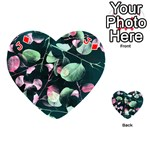Modern Green And Pink Leaves Playing Cards 54 (Heart)  Front - DiamondJ