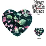 Modern Green And Pink Leaves Playing Cards 54 (Heart)  Front - SpadeJ