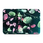 Modern Green And Pink Leaves Plate Mats