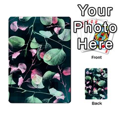 Modern Green And Pink Leaves Multi-purpose Cards (Rectangle)
