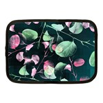 Modern Green And Pink Leaves Netbook Case (Medium)