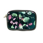 Modern Green And Pink Leaves Coin Purse