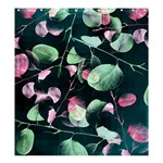 Modern Green And Pink Leaves Shower Curtain 66  x 72  (Large)