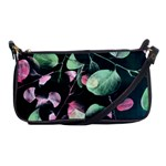 Modern Green And Pink Leaves Shoulder Clutch Bags