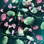 Modern Green And Pink Leaves Magic Photo Cubes Side 4