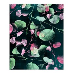 Modern Green And Pink Leaves Shower Curtain 60  X 72  (medium)