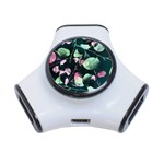 Modern Green And Pink Leaves 3-Port USB Hub