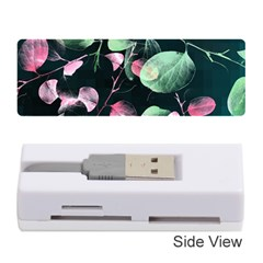 Modern Green And Pink Leaves Memory Card Reader (stick)
