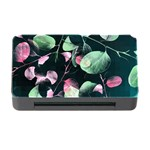 Modern Green And Pink Leaves Memory Card Reader with CF