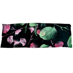 Modern Green And Pink Leaves Body Pillow Case Dakimakura (two Sides) by DanaeStudio
