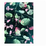 Modern Green And Pink Leaves Large Garden Flag (Two Sides) Back