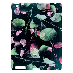 Modern Green And Pink Leaves Apple Ipad 3/4 Hardshell Case by DanaeStudio