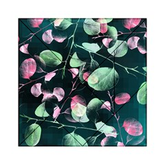 Modern Green And Pink Leaves Acrylic Tangram Puzzle (6  X 6 ) by DanaeStudio