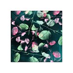 Modern Green And Pink Leaves Acrylic Tangram Puzzle (4  x 4 )