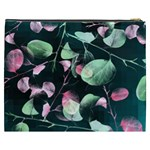 Modern Green And Pink Leaves Cosmetic Bag (XXXL)  Back