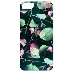 Modern Green And Pink Leaves Apple Iphone 5 Classic Hardshell Case
