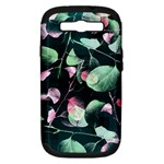 Modern Green And Pink Leaves Samsung Galaxy S III Hardshell Case (PC+Silicone)