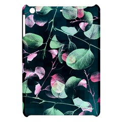 Modern Green And Pink Leaves Apple Ipad Mini Hardshell Case