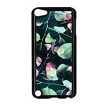 Modern Green And Pink Leaves Apple iPod Touch 5 Case (Black)