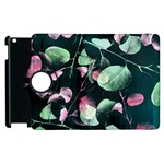 Modern Green And Pink Leaves Apple iPad 3/4 Flip 360 Case
