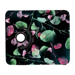 Modern Green And Pink Leaves Samsung Galaxy S  Iii Flip 360 Case by DanaeStudio