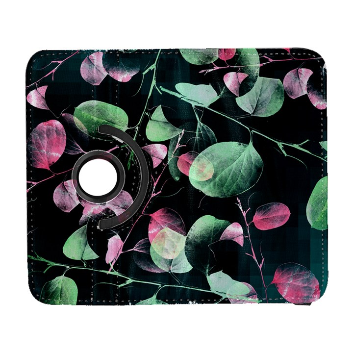 Modern Green And Pink Leaves Samsung Galaxy S  III Flip 360 Case