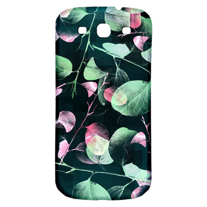 Modern Green And Pink Leaves Samsung Galaxy S3 S III Classic Hardshell Back Case