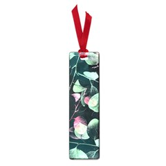 Modern Green And Pink Leaves Small Book Marks by DanaeStudio
