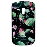 Modern Green And Pink Leaves Samsung Galaxy S3 MINI I8190 Hardshell Case