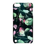 Modern Green And Pink Leaves Apple iPod Touch 5 Hardshell Case with Stand