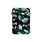 Modern Green And Pink Leaves Apple iPad Mini Protective Soft Cases Front