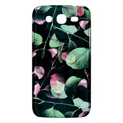 Modern Green And Pink Leaves Samsung Galaxy Mega 5 8 I9152 Hardshell Case  by DanaeStudio