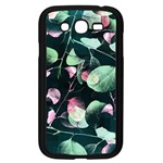 Modern Green And Pink Leaves Samsung Galaxy Grand DUOS I9082 Case (Black) Front