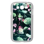 Modern Green And Pink Leaves Samsung Galaxy Grand DUOS I9082 Case (White)