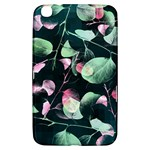Modern Green And Pink Leaves Samsung Galaxy Tab 3 (8 ) T3100 Hardshell Case