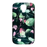 Modern Green And Pink Leaves Samsung Galaxy S4 Classic Hardshell Case (PC+Silicone)