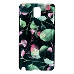 Modern Green And Pink Leaves Samsung Galaxy Note 3 N9005 Hardshell Case