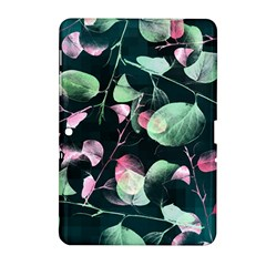 Modern Green And Pink Leaves Samsung Galaxy Tab 2 (10 1 ) P5100 Hardshell Case