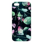Modern Green And Pink Leaves iPhone 5S/ SE Premium Hardshell Case