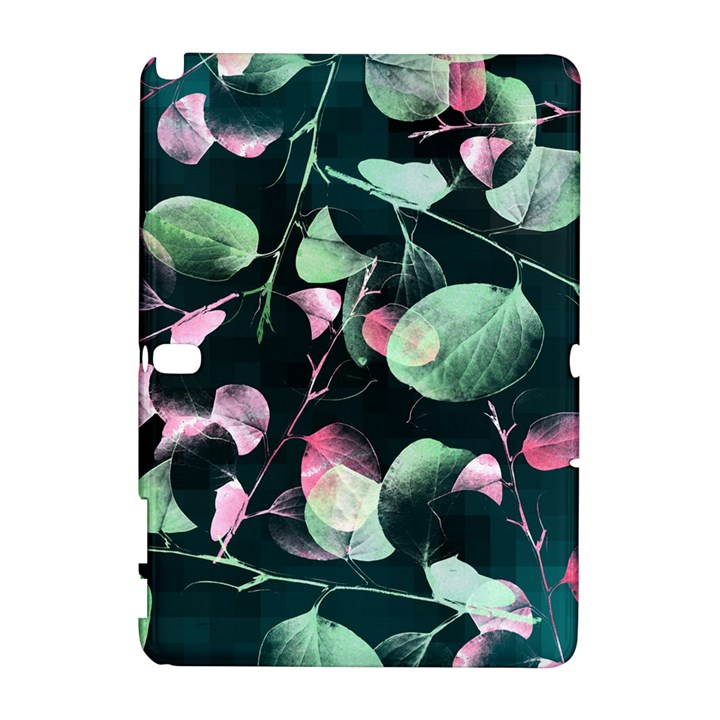 Modern Green And Pink Leaves Samsung Galaxy Note 10.1 (P600) Hardshell Case