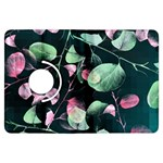 Modern Green And Pink Leaves Kindle Fire HDX Flip 360 Case