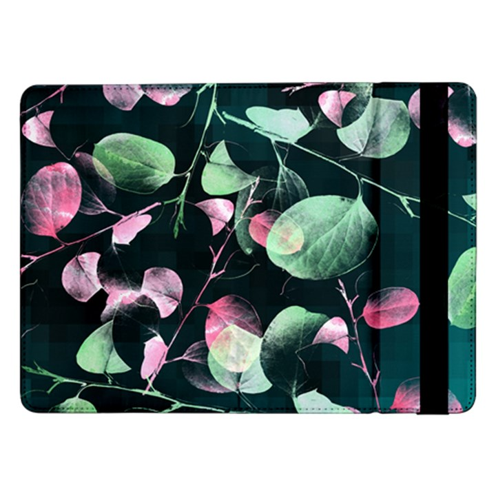 Modern Green And Pink Leaves Samsung Galaxy Tab Pro 12.2  Flip Case