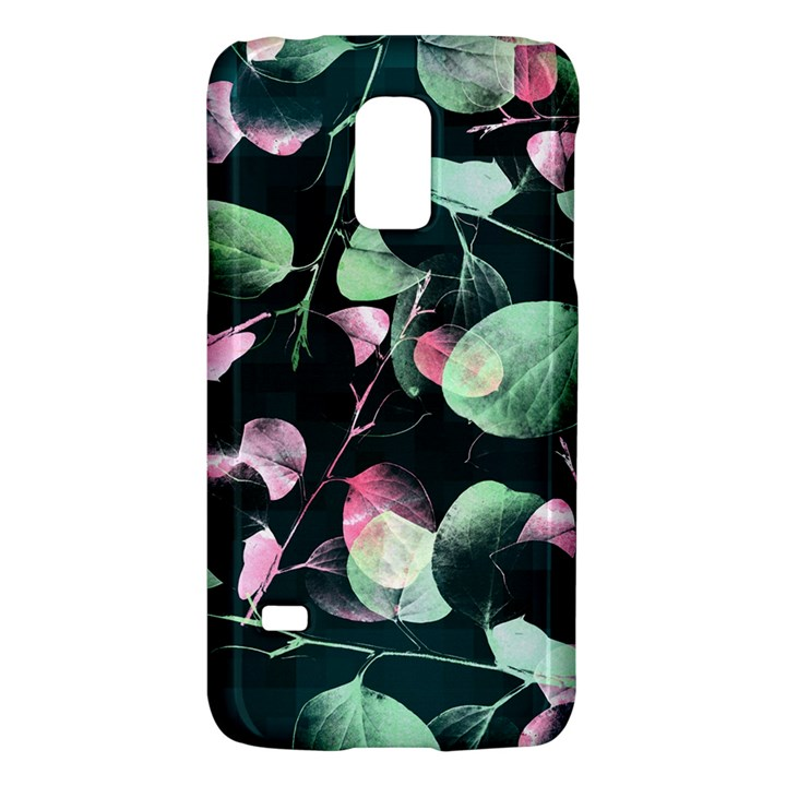 Modern Green And Pink Leaves Galaxy S5 Mini