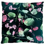 Modern Green And Pink Leaves Standard Flano Cushion Case (Two Sides) Back