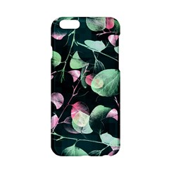 Modern Green And Pink Leaves Apple Iphone 6/6s Hardshell Case