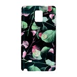 Modern Green And Pink Leaves Samsung Galaxy Note 4 Hardshell Case