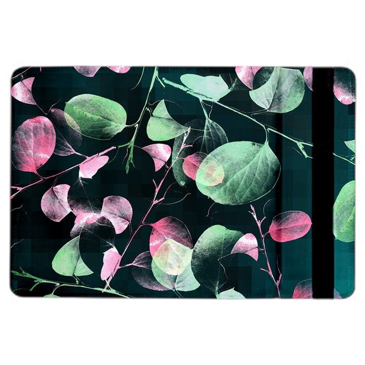 Modern Green And Pink Leaves iPad Air 2 Flip