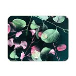 Modern Green And Pink Leaves Double Sided Flano Blanket (Mini)